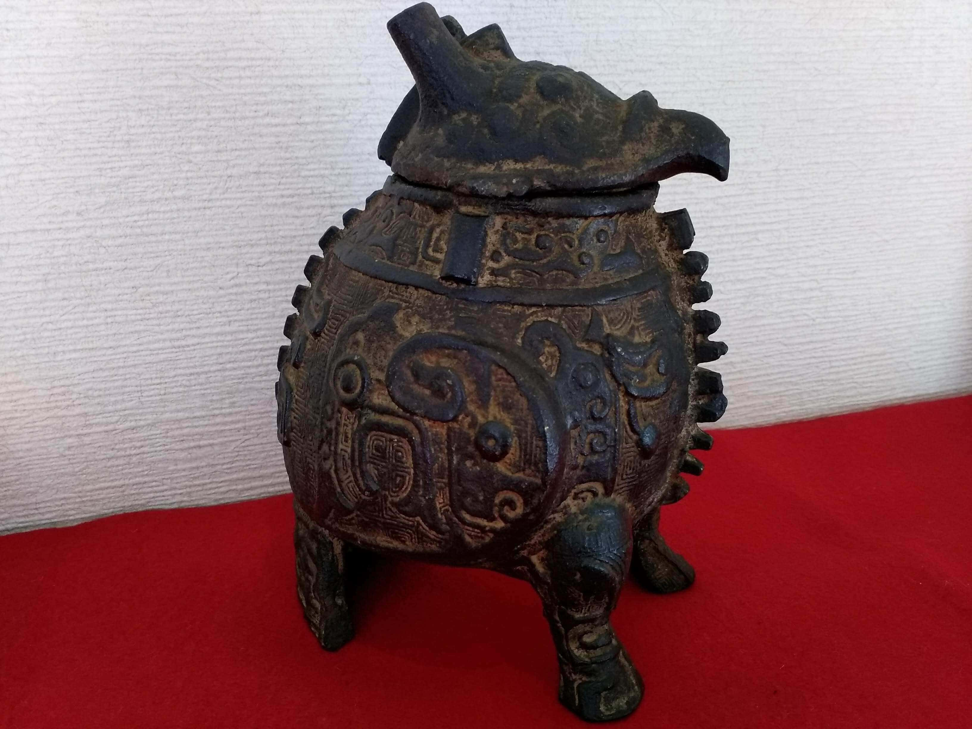獣型蓋物 古銅器の買取り写真